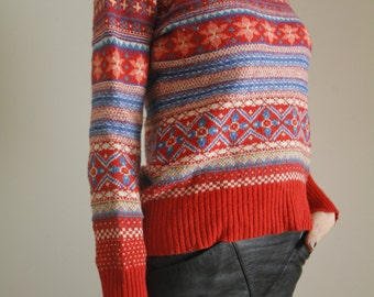 """Vintage Red """"Ugly"""" Christmas Sweater"""