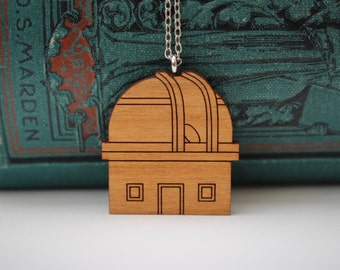 Observatory Necklace | Laser Cut Space & Science Jewellery