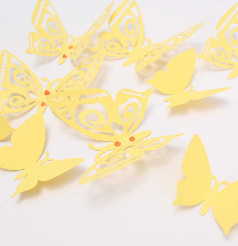 Pretty Paper Butterfly Wall Decor Pictures Inspiration - The Wall ...