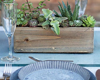 """Wood Planter Box, With Liner, 11-3/4"""" x 4"""" Wide"""