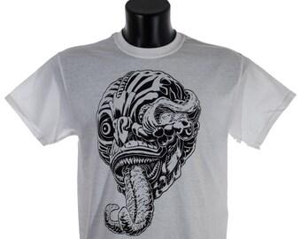 T-shirt death, Monster hunter t-shirts, handmade silk screen printed limited edition tshirt, Shinigami t-shirt