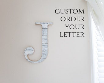 Wood Letter, Letters for Walls, White Letter, Chippy White, Alphabet Letters, Nursery Wall Letters, Wooden Letter, French Country Decor