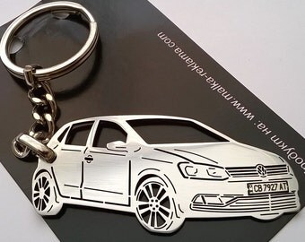 Volkswagen Keychain, Volkswagen , VW Keychain, Volkswagen Polo, Personalized Key Chain, Custom Keyring, Stainless Steel Keychain, VW keyring