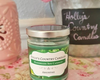 Hand-Poured Absinthe Scented 9 oz. Soy Container Candle *** Clearance