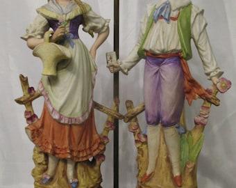 Antique Porcelain Figural Lamp