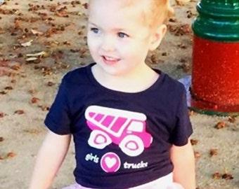 Girl Truck Shirt, Pink Truck, Girl Truck Party, Trucks for Girls, Truck Party, Truck, Truck Shirt, Girls T Shirt, Trucker Girl, Girls Gift