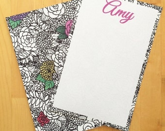 Floral Personalized Stationary