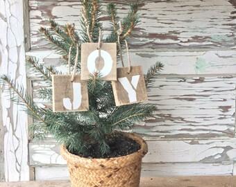 Reclaimed Wood Christmas Ornaments