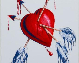 Arrows through Heart