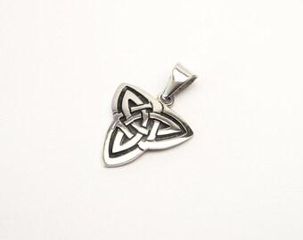 Silver 925 large Celtic knot Celtic Trinity pendants solid