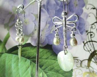 Gypsy Dragonfly Natural Earrings