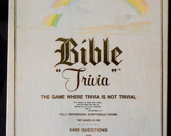 Bible Trivia Board Game: The Game Where Trivia is not Trivial - By Cadaco 1984 - Religious Game - Spiritual Game - Adult Game - Child Game