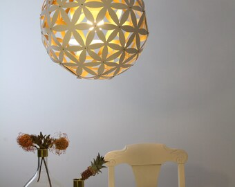 "Pendant light ""Blomst No 1"" – white and gold"