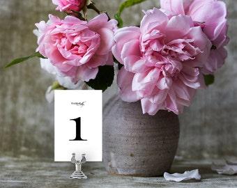 Wedding Table Numbers, Printable Table Numbers Template | Wedding Reception | Printable, Kraft | No. EDN 5023