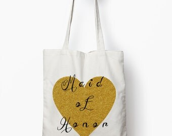 maid of honor bag, maid of honor gift, wedding tote bag