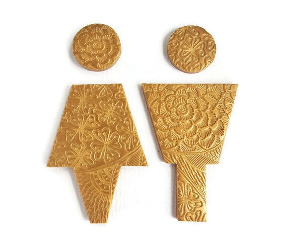 Bathroom Sign Male gold restroom sign male female bathroom signs for gold home