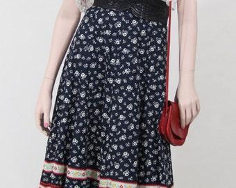 Maxi skirt / vintage / boho chic / romantic / Coachella / 1970s / size: XS