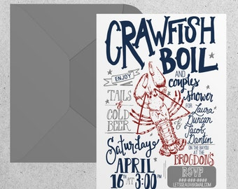 Crawfish Boil Couples Shower Invitation
