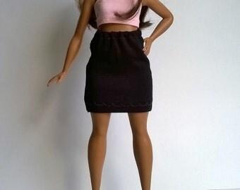 Curvy Barbie Jersey skirt in black