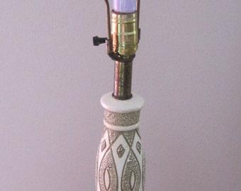Table Lamp, Mid Century, Ceramic, 3-way light, Vintage