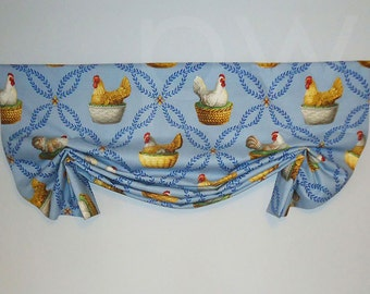 P Kaufmann Brooding Hen London Valance Faux Shade French Country
