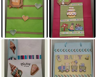 Decorative gift bags (set of 4)