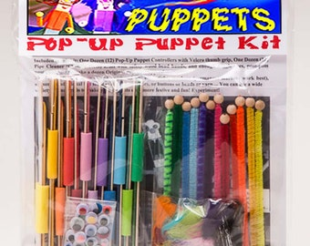 Pop-up Puppet Kit ~ Planet of the Puppets ~ Makes 12 Puppets