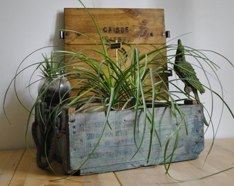 Former military ammunition box wooden