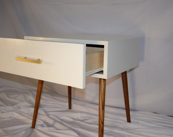 Mid century modern side table nightstand drawer  contemporary furniture modern furniture