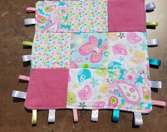 Butterfly Bird Tag Blanket