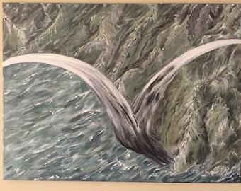 32X23, Flight, Original Acrylic Painting on Canvas
