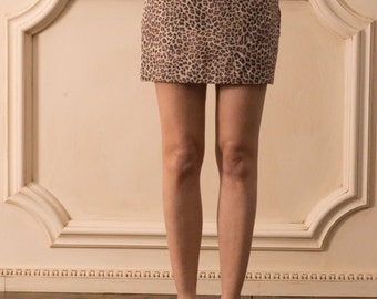 miniskirt animalier print /hand made in italy/skirt/sizes available