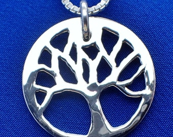 Tree of Life Silver Dime Necklace & Sterling 925 Chain