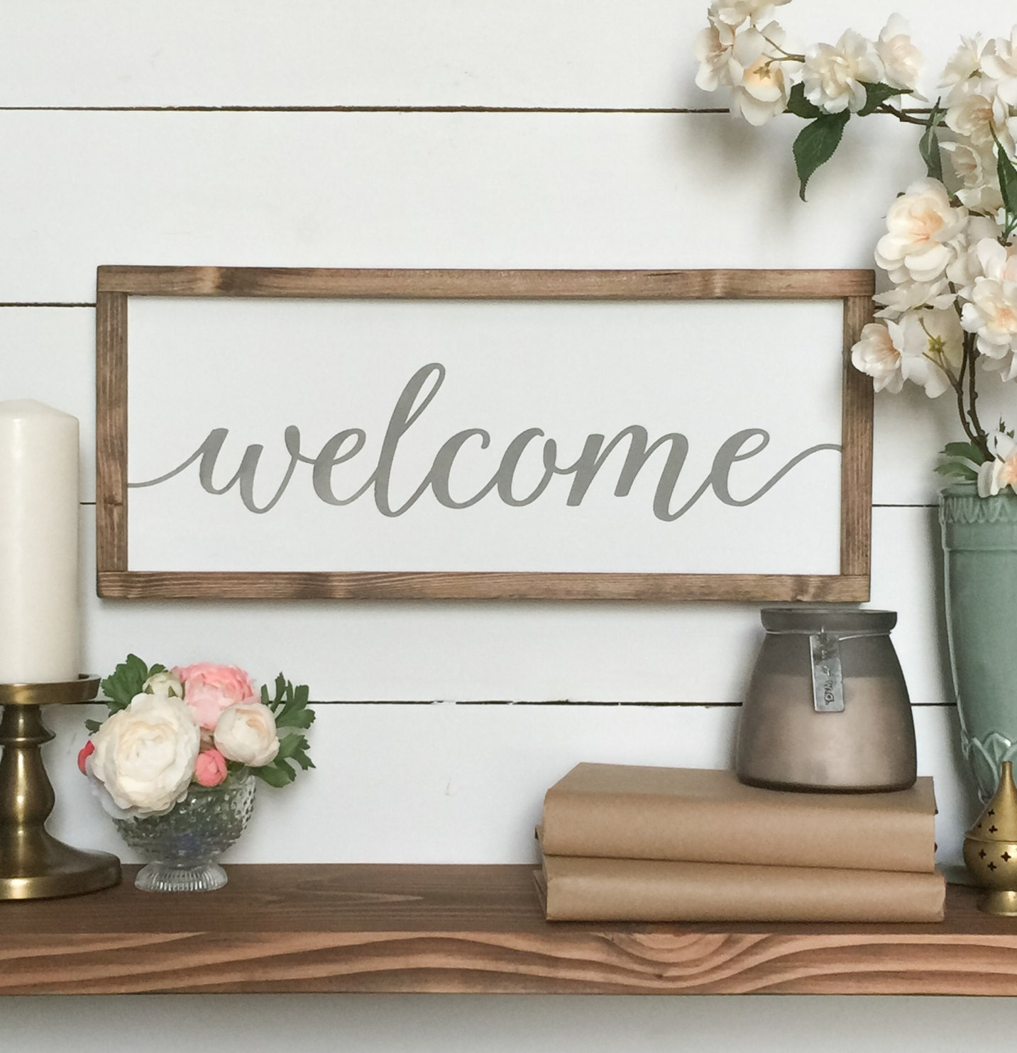 Welcome sign welcome wood sign farmhouse wall decor for I sign decoration