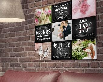 Montage Wedding canvas