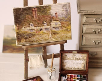 Dolls House Miniature Artist's Paint Box Set in 1:12 scale