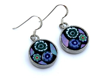 Mosaic Earrings- Blue