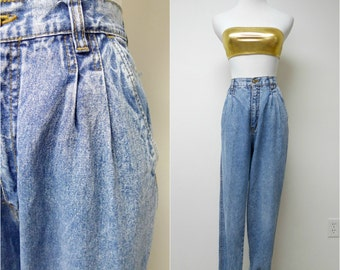 Bill Blass . high waist . acid wash denim jeans . size 10  . waist 29.5""