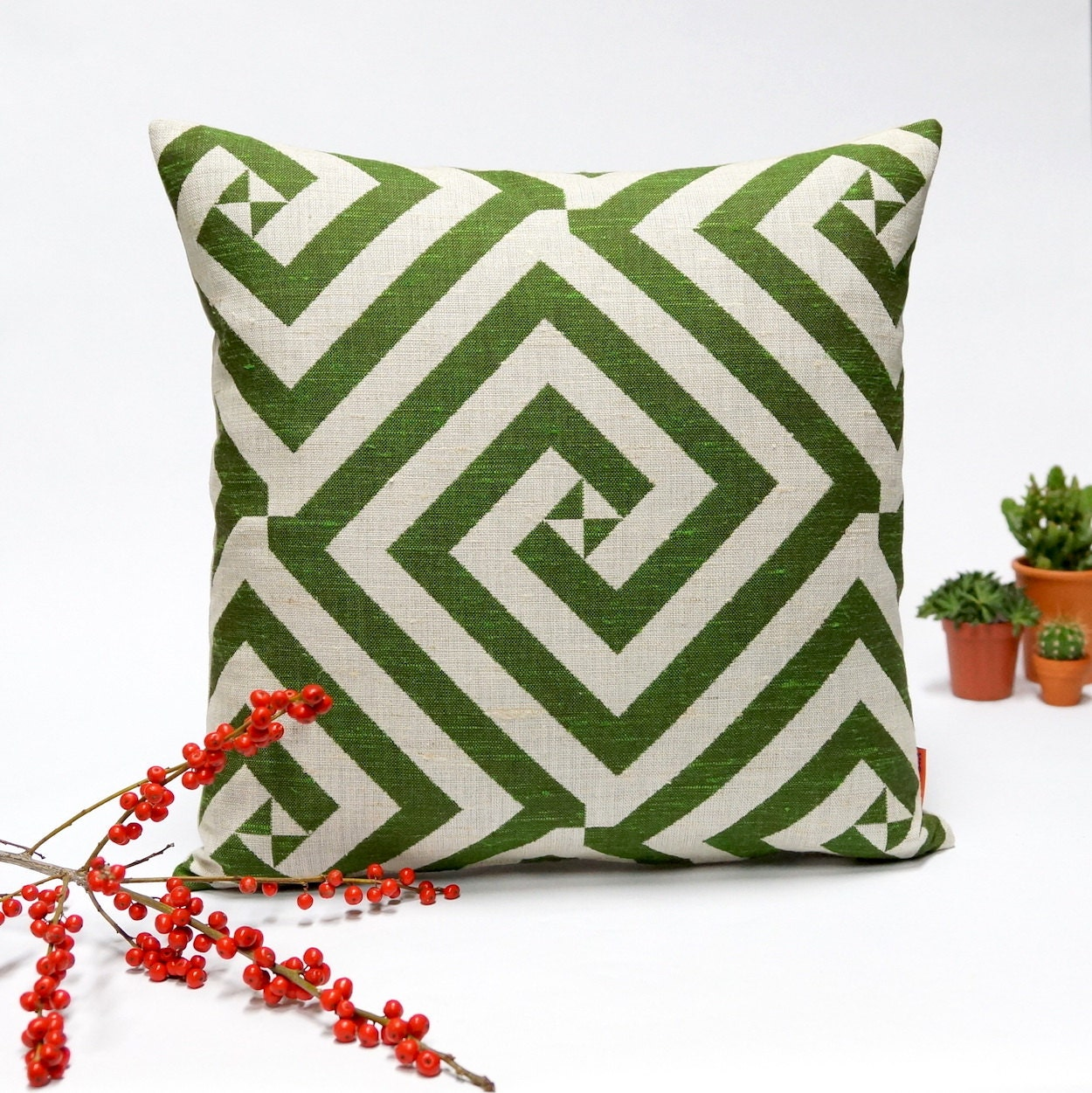 Midcentury Pillow : Mid Century Modern decorative pillow cover graphic decor in