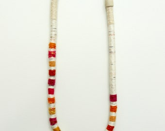 multi-stripe fiber necklace