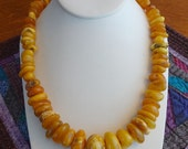 Vintage, Faux Amber, Necklace
