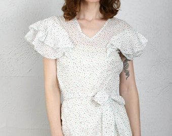 SALE- 1930s Polka Dot Dress