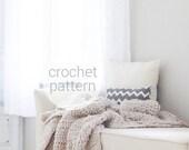 Pattern / Ozetta Crochet Blanket Pattern Instant Download For THE BARROW Blanket