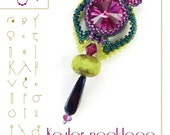 pendant tutorial / pattern Keuler the owl pendant with swarovski – PDF instruction for personal use only