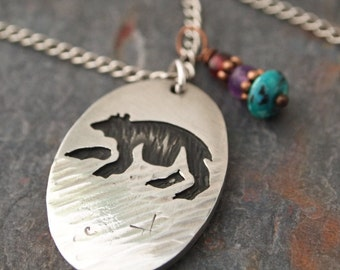 Bear Gemstone Necklace
