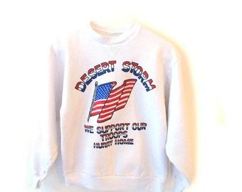 80s 90s DESERT STORM Patriotic Sweatshirt