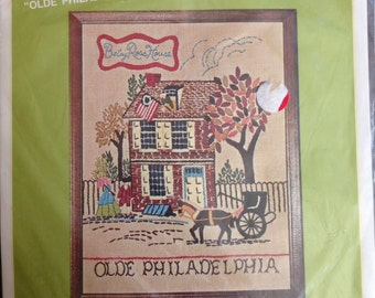 Bucilla Creative Needlepoint Olde Philabelphia Betty Ross House - Kit No. 1997