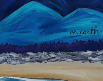 peace on earth (and in the sea)  - HOLIDAY ART CARD - ecofriendly