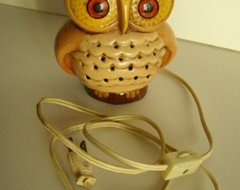 Authentic Vintage Owl Night Light from the 1980's