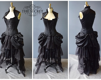 french courtesan-masquerade dress-clubwear-corset dress-carnival-the secret boutique-halloween-costume-corset dress-prom-wedding-gothic